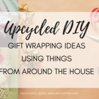 UPCYCLED GIFT WRAPPING IDEAS USING THINGS FROM AROUND THE HOUSE