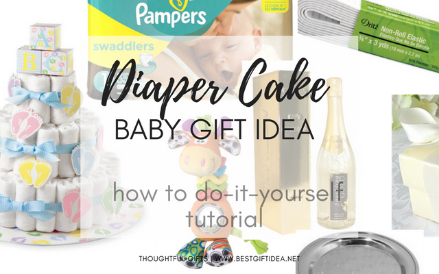 diaper cake easy baby gift baby shower gift idea