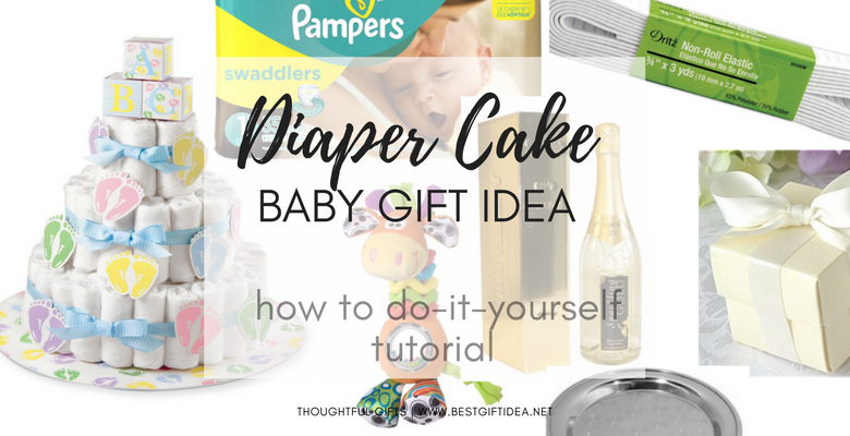 diaper cake easy baby gift baby shower gift idea