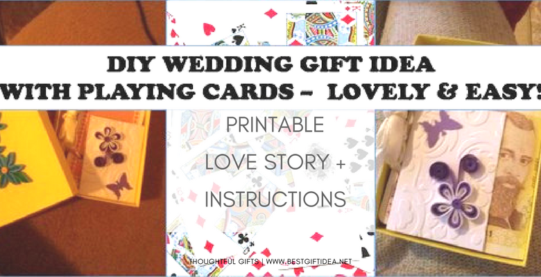 DIY WEDDING GIFT IDEA LOVE STORY BOOKLET WITH PLAYING CARDS