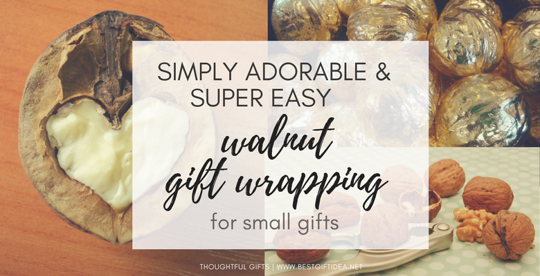 creative easy gift wrapping idea with walnut inspired by nature