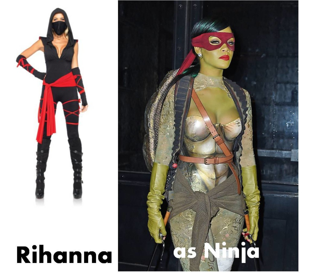 celebrities Halloween costumes inspirational idea by Rihanna