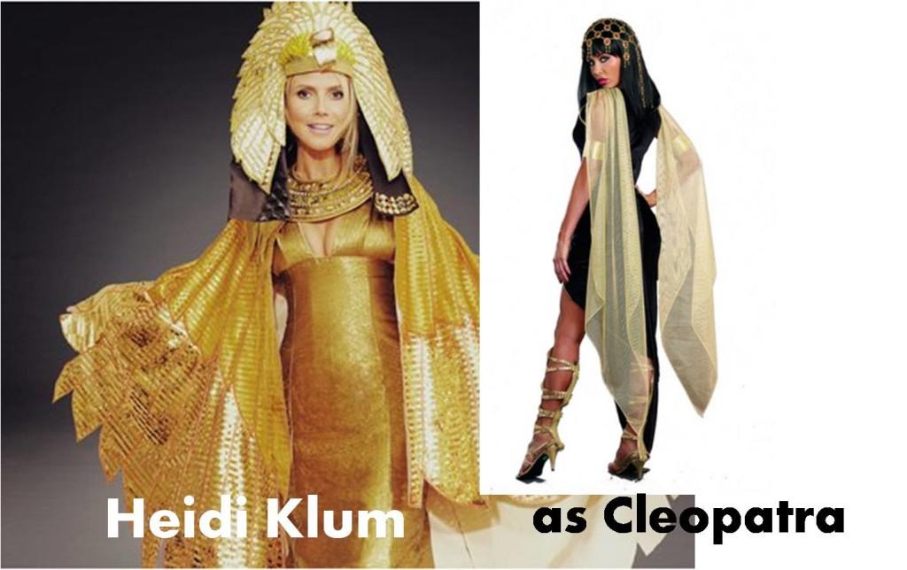 celebrities Halloween costumes inspirational idea by Heidi Klum