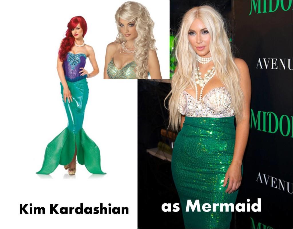 celebrities Halloween mermaid costume inspirational idea by Kim Kardashian