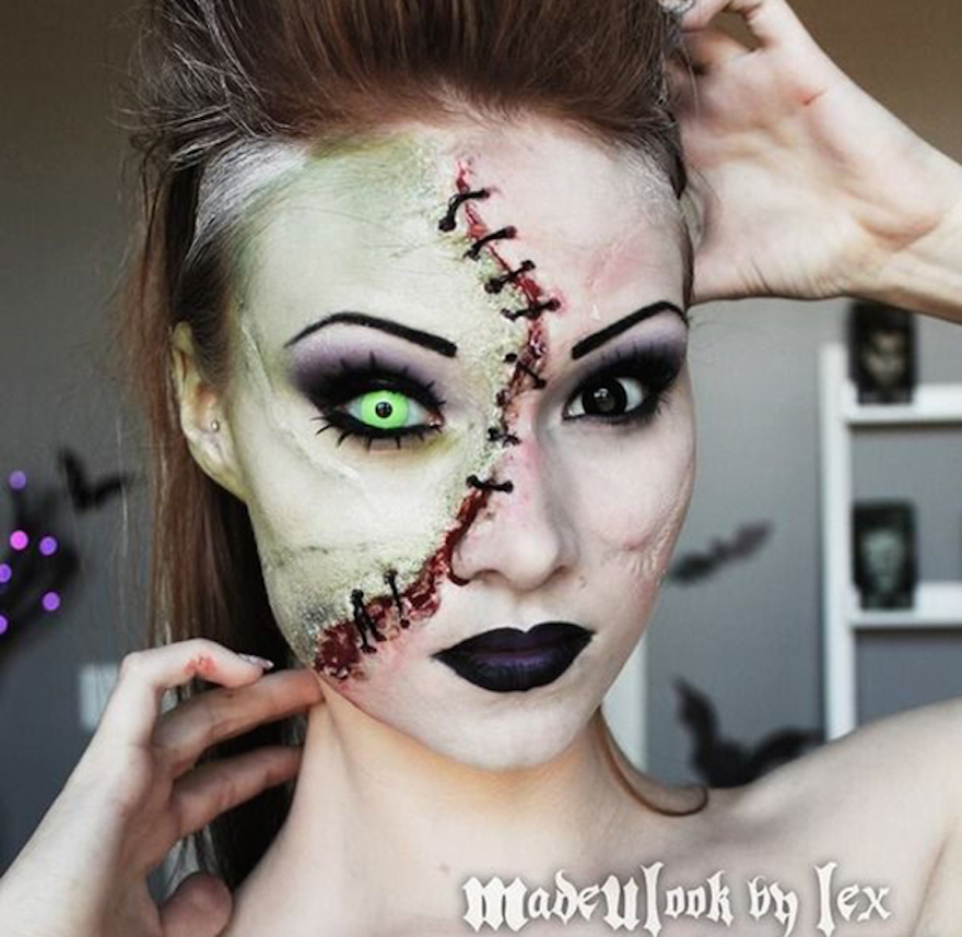scary halloween make up for her