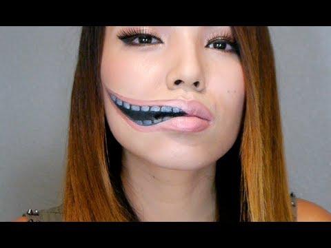 creepy halloween make up for her
