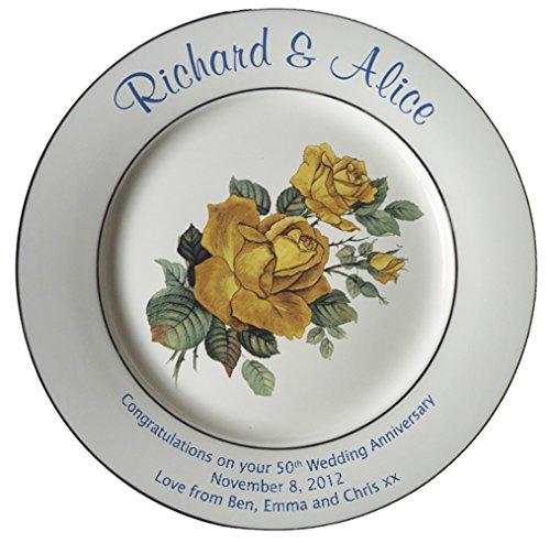 Wedding Gift China: Best Gift Idea Personalized Bone China Commemorative Plate