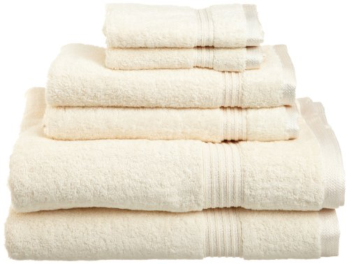 Superior Egyptian Cotton 6 Piece Towel Set Ivory