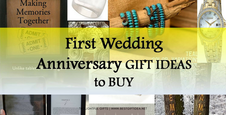 FIRST WEDDING ANNIVERSARY GIFTS TO BUY