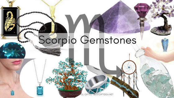 scorpio gifts brith gemstones ideas