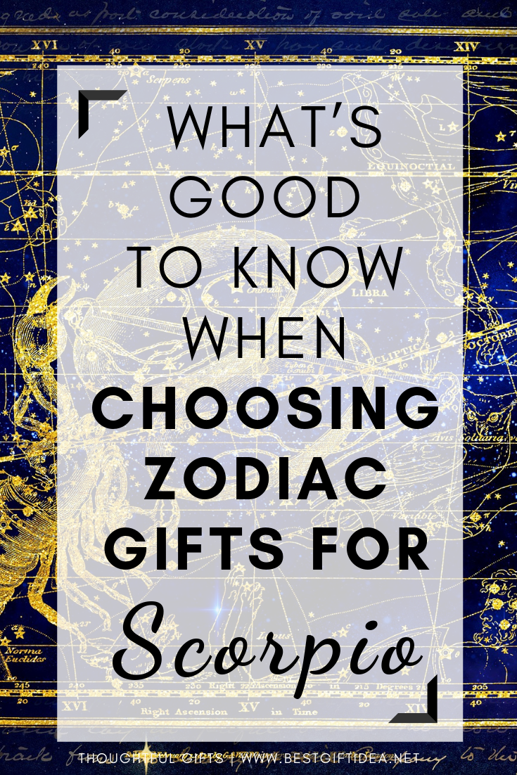 What Is Good To Know When Choosing Zodiac Gifts For Scorpio