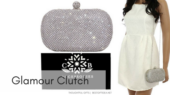 glamour clutch with crystals