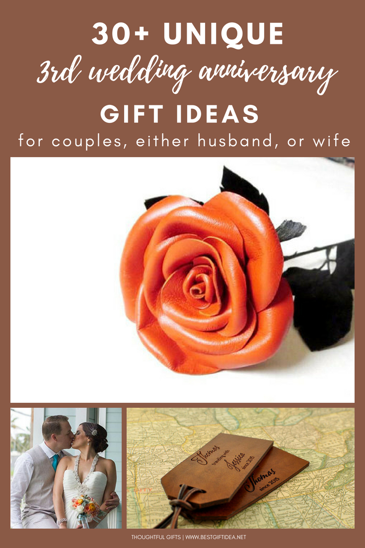 a91393604f3a 30+ unique 3rd wedding anniversary gift ideas for couples husband wife